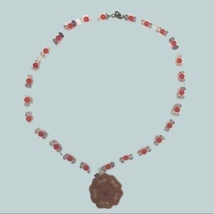 Chan Luu Beaded Necklace with Flower Pendant